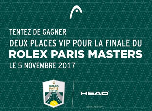 Jeu Concours Head Rolex Paris Masters Tennisaddict